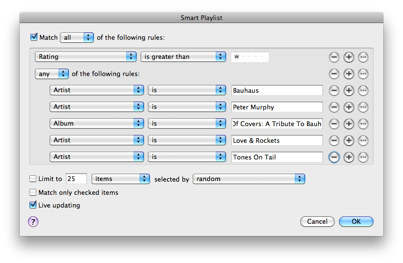 Smarter Playlists in iTunes 9